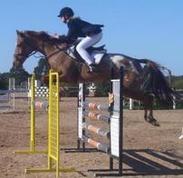 Cayuse Rain King jumping high